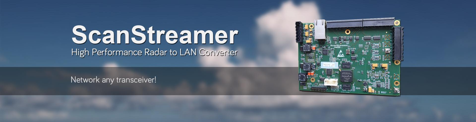 Scanstreamer high performance radar to lan converter